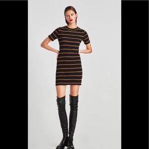 NWT Zara Stripe Ribbed dress
